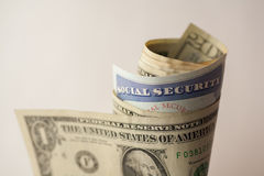Cartão de segurança social Foto de Stock Royalty Free