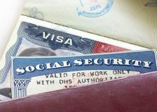Cartão de segurança social fotos de stock royalty free