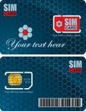 Cartão de Sim Imagens de Stock