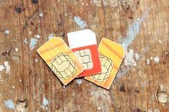 Cartão de Sim Fotos de Stock Royalty Free