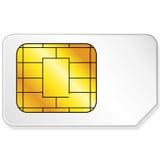 Cartão de Sim Fotografia de Stock Royalty Free