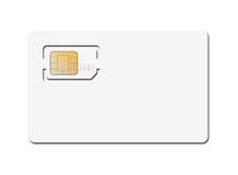 Cartão de Sim do telefone móvel Fotos de Stock Royalty Free