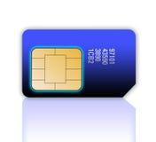 Cartão de Sim do telefone móvel Imagens de Stock Royalty Free