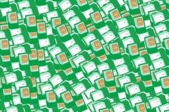 Cartão de Sim Fundo Imagens de Stock Royalty Free