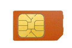 Cartão de Sim isolado no branco Fotografia de Stock