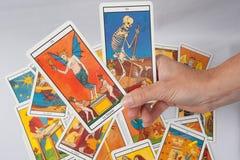 Cartão de tarô da adivinhação Fotografia de Stock Royalty Free