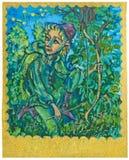 Cartão de Tarot - aventura Fotos de Stock