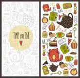Cartão de tempo do chá Fotos de Stock Royalty Free