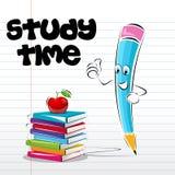 Cartão de tempo do estudo Foto de Stock
