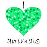cartão de texto de muitos animais de estimação pata e ossos Imagem de Stock Royalty Free