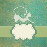 Cartão de texto decorativo com gato da colagem. EPS 8 Imagens de Stock Royalty Free