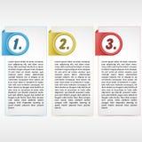 Cartão de três cores Foto de Stock