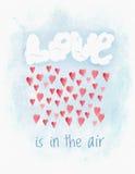 Cartão de Valentine Day da aquarela ilustração do vetor