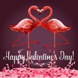Cartão de Valentine Day ou projeto do cartaz ilustração stock