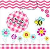 Cartão de Vecotr com elementos do bebê do scrapbook Foto de Stock Royalty Free