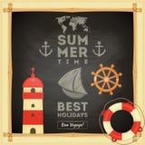 Cartão de verão Fotos de Stock Royalty Free