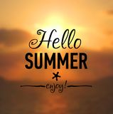 Cartão de verão com fundo do beira-mar Fotos de Stock Royalty Free
