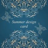 Cartão de verão da borboleta Fotografia de Stock