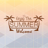 Cartão de verão do vetor com espaço para o texto Ilustração do Vetor