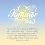 Cartão de verão do vetor com espaço para o texto Ilustração Royalty Free