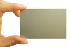 Cartão de visita na mão Foto de Stock Royalty Free