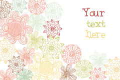 Cartão decorativo da flor Imagens de Stock