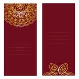 Cartão decorativo do convite de Mandala Vintage Imagens de Stock