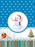 Cartão decorativo dos feriados de inverno Imagens de Stock Royalty Free