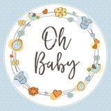 Cartão delicado do chuveiro de bebê Imagens de Stock