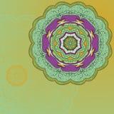 Cartão desenhado à mão do ornamento do laço do círculo Foto de Stock Royalty Free