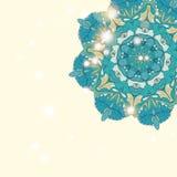 Cartão desenhado à mão do ornamento do laço do círculo Fotografia de Stock Royalty Free