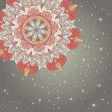 Cartão desenhado à mão do ornamento do laço do círculo Fotos de Stock