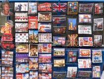 Cartão diferentes de Londres e de Inglaterra Fotografia de Stock Royalty Free