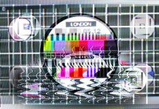 Cartão distorcido do teste da tevê Imagem de Stock