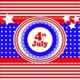 Cartão do álbum de recortes do Dia da Independência Fotos de Stock