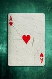Cartão do ás de Grunge Imagens de Stock Royalty Free