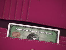 Cartão do American Express Foto de Stock