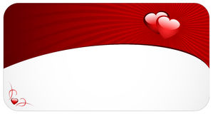 Cartão do amor imagem de stock