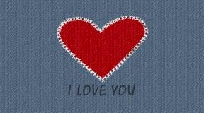 Cartão do amor Fotografia de Stock