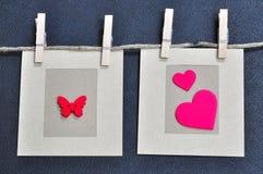 Cartão do amor Fotos de Stock Royalty Free