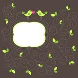 Cartão do amor com pássaros Fotografia de Stock