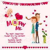 Cartão do amor Day Imagens de Stock