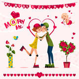 Cartão do amor Day Imagem de Stock