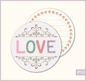 Cartão do amor do círculo Foto de Stock Royalty Free