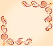 Cartão do amor do coração e das flores ilustração royalty free