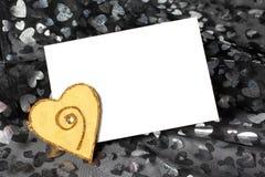 Cartão do amor do dia do Valentim Imagens de Stock