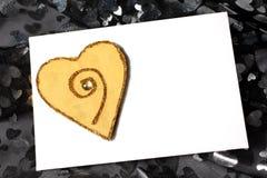 Cartão do amor do dia do Valentim Fotos de Stock
