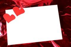 Cartão do amor do dia do Valentim Foto de Stock