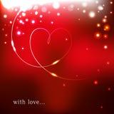 Cartão do amor do vetor Foto de Stock