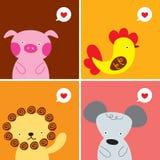 Cartão do amor dos animais Fotografia de Stock